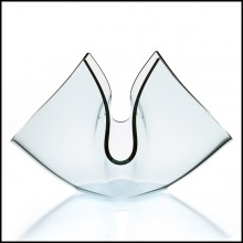 Vase in fused clear glass 40-Flowering