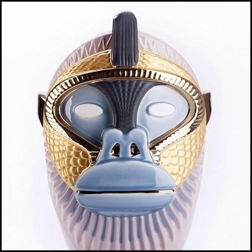 Fauteuil avec véritable peau de zeèbre Burchell et véritables cornes PC-King Zebra Dome