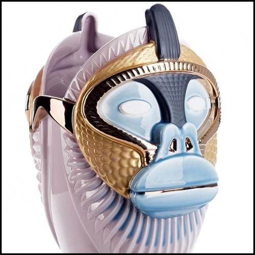 Table basse avec plateau en verre clair biseauté 40-Rolling
