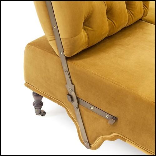 Plafonnier en acier inoxydable finition gold et verre cristal 24-Eden Gold