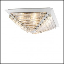 Ceiling Lamp in nickel finish and crystal glass 24-Eden Nickel