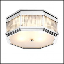Ceiling Lamp in nickel finish with clear glass and frosted glass 24-Bagatelle Nickel