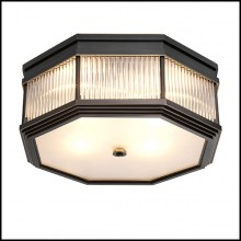Ceiling Lamp in bronze highlight finish with clear glass and frosted glass 24-Bagatelle Bronze