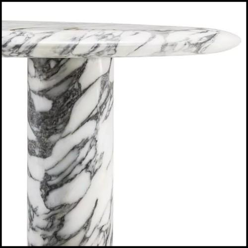 Table basse en acier inoxydable avec verre clair et verre miroir 24-Superia Nickel