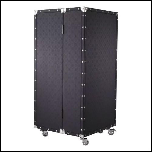 Table basse en acier inoxydable finition gold et verre clair 24-Ramage Gold