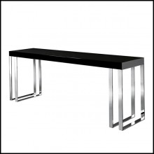 Console with metal feet in chrome finish 162-Ennio Black or White
