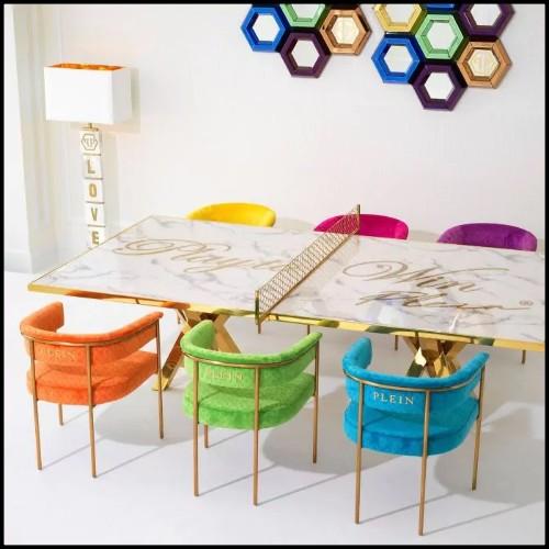 Miroir avec cadre en bois massif sculpté à la main 119-Frontier