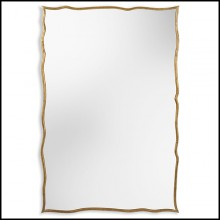 Mirror with hand carved solid wood frame 119-Frontier