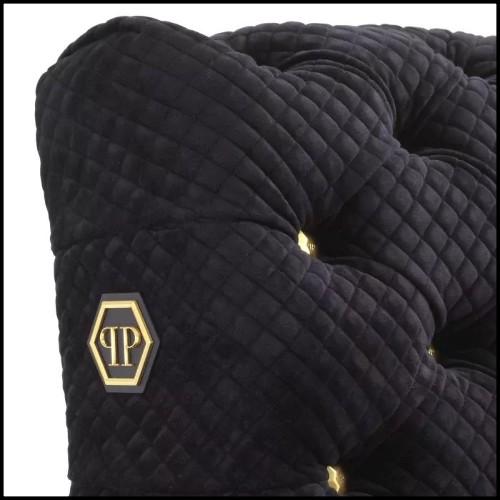 Vase avec porcelaine de Limoges plaqué or 24 carats 172-Pearled