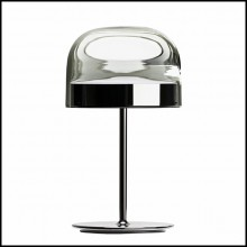 Lampe avec base en métal finition black chromed 40-Sober Shade