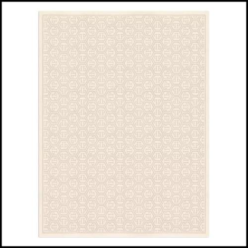 Candlesticks in stainless steel nickel-plated 172-Torsade Nickel Set of 2