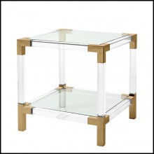 Table d'appoint en acier inoxydable finition laiton brossé 24-Royalton Brass