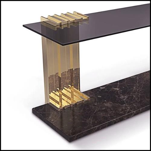 Commode en hêtre massif couvert avec véritable peau de zèbre PC-Zebra and Elk