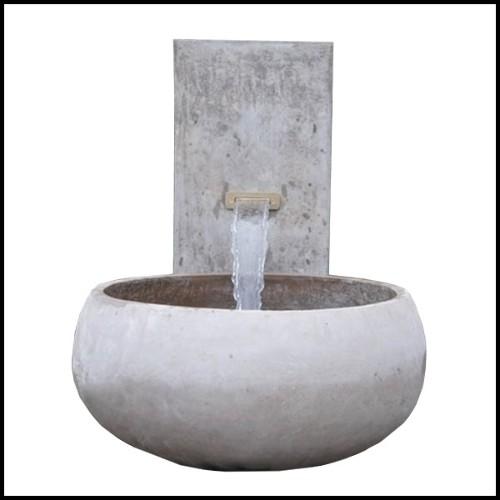 Table basse avec base en fibre de verre finition dark mate 114-Cesar Dark