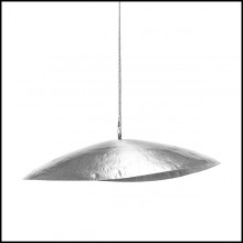 Suspension en laiton massif finition mate et finition nickel 30-Leaf Silver Medium
