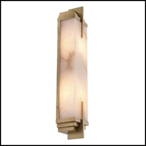 Suspension in matte solid brass in nickel finish 30-Leaf Silver Medium