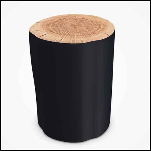 Table à allonge piètement en aluminium brossé et plateau en lattes d'aluminium 47-Equinox