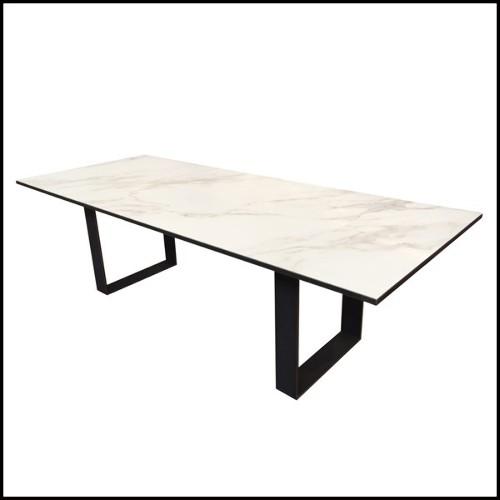 Miroir en acier brillant avec lumière LED intégrée 35-VORTEX