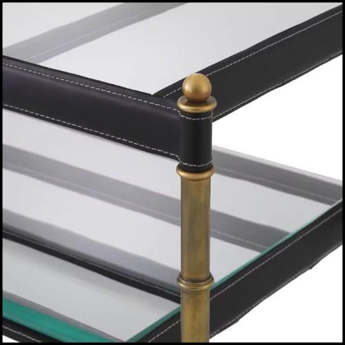 Pouf en bois avec assise couverte avec tissu coloris Granite Grey 24-Mondial Grey