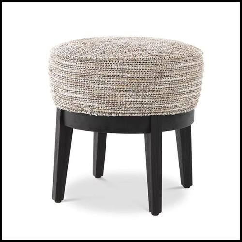 Commode en hêtre massif avec véritable peau de crocodile teintée rouge PC-Red Croco