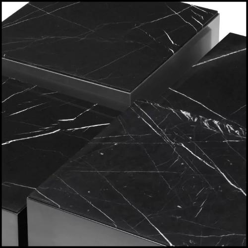 Tabouret de bar en bois avec pieds en laiton finition black 24-Cedro Grey L