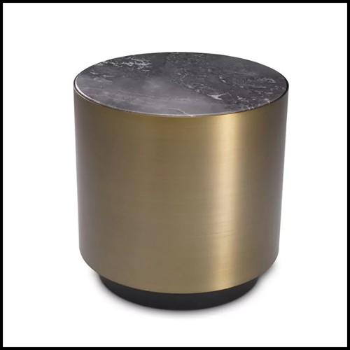Tabouret de bar en hêtre massif et assise avec tissu velours coloris Blue 24-Sophia Loren Blue