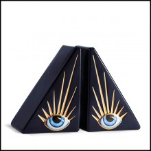 Serre livres en porcelaine 172-Blue Eyes Set of 2