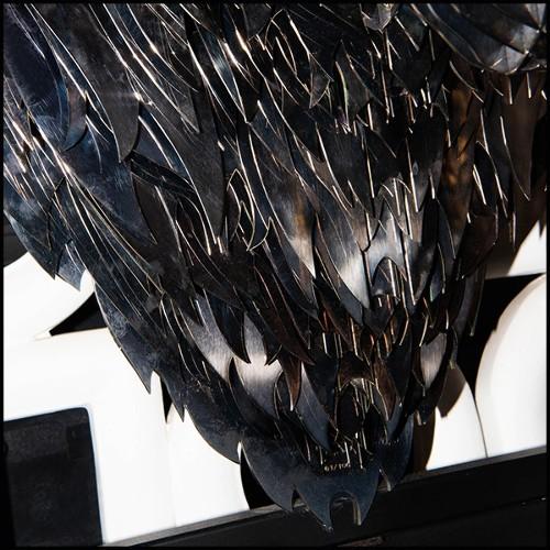 Console table in solid oak wood in tobacco finish 146-Hexa Oak