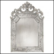Mirror in solid wood and bevelled antique mirrored glass 182-Mezzo