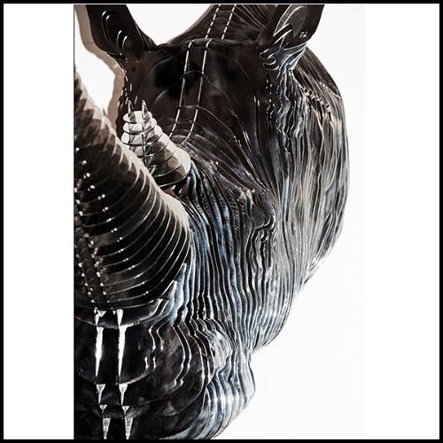 Miroir en bois massif avec verre miroir biseauté antique 182-Soprano