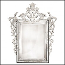 Mirror in solid wood with bevelled antique mirrored glass 182-Soprano