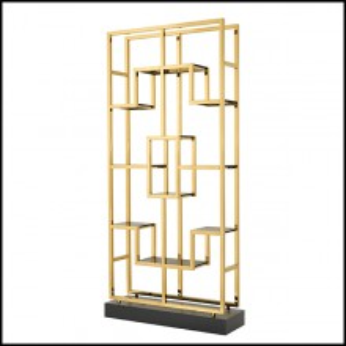 Étagère en acier inoxydable finition gold 24-Lagonda Gold