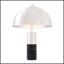Table Lamp in nickel finish and base in marble finish 24-Flair Nickel