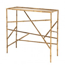 Console Table in brass in antique finish 24-Wailea