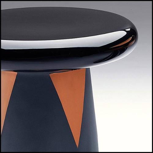 Miroir en laiton finition vintage et miroir convexe 24-Exotic