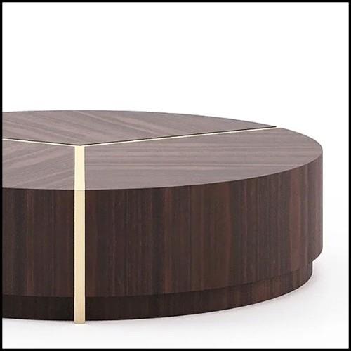 Tabouret en cèdre massif naturel 154-Cylinder Cedar