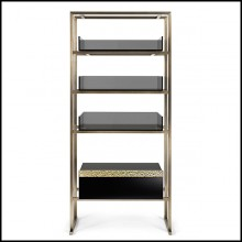 Shelf in metal in burnished and antiqued brass finish 182-Pietro