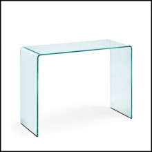 Curved glass console 146-Rialto