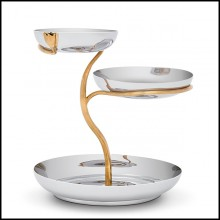 Cup in polished stainless steel and gold plated 172-Gold Stalk 3 Large