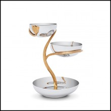 Cup in polished stainless steel and gold plated 172-Gold Stalk 3 Medium