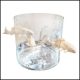 Vase in blown glass and fishes in white porcelain 104-Fishes