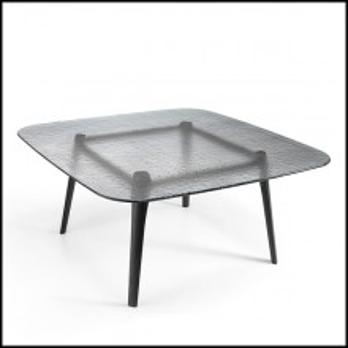 Table de repas en chêne massif finition gris 146-Estamp