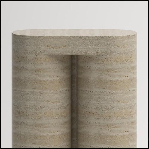 Table basse en acier brut artisanal 147-Cassette