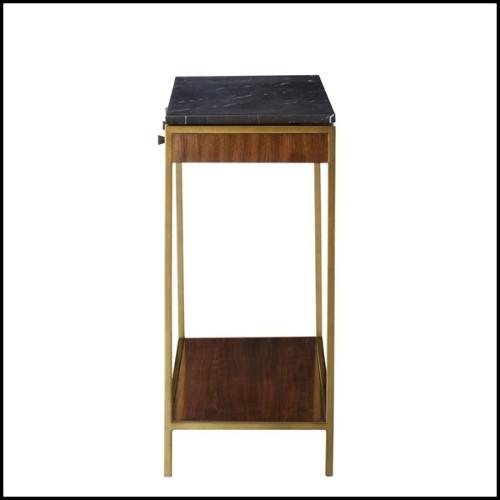 Pouf avec structure en bois avec tissu velours léopard 162-Leopard