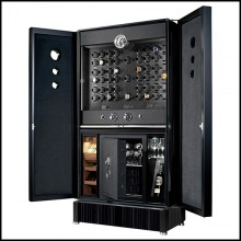Safe Cabinet in solid ebony high gloss lacquered finish PC-Luxury Black Watch