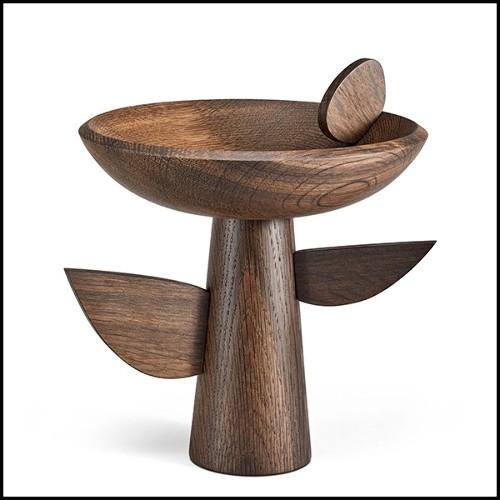 Lampe en bronze finition médaillon 184-Pillar Bronze