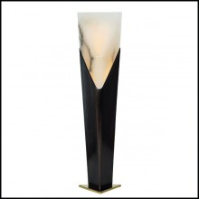 Table Lamp in casted bronze in medal finish 184-Pillar Bronze