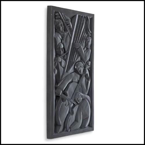 Remontoir en aluminium finition nickel 185-Black Notched