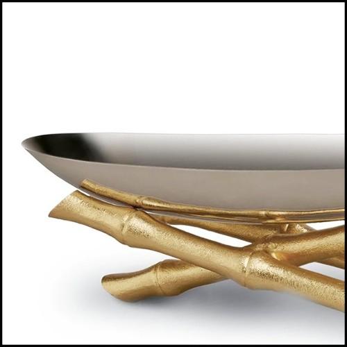 Boîte en cuir marron et détails en laiton nickelé poli 186-Luxury Triple Watch Brown or Blue or Redwine