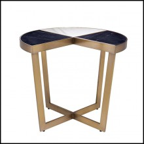 Table d'appoint en acier inoxydable finition laiton brossé 24-Turino